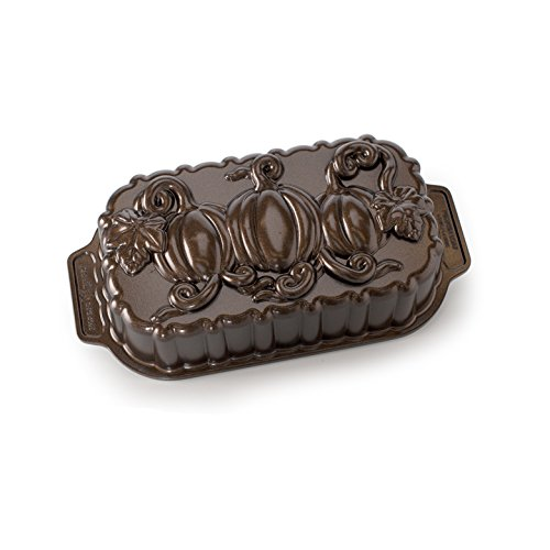 Nordic Ware Pumpkin Patch Loaf Pan, Bronze by Nordic Ware