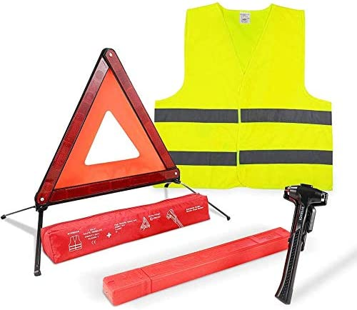 Mottdam Triple Warning,3PCS Reflective Triangle Warning Sign Car Hazard Road Emergency Breakdown Board,Triangle Reflector Safety Triangle Kit Red