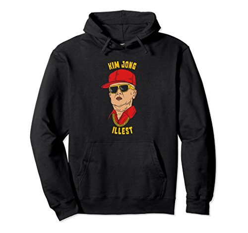 Unisex Funny Kim Jong Il North Korea Hoodie Kim Jong Illest 2XL - Un Sunglasses Kim Jong