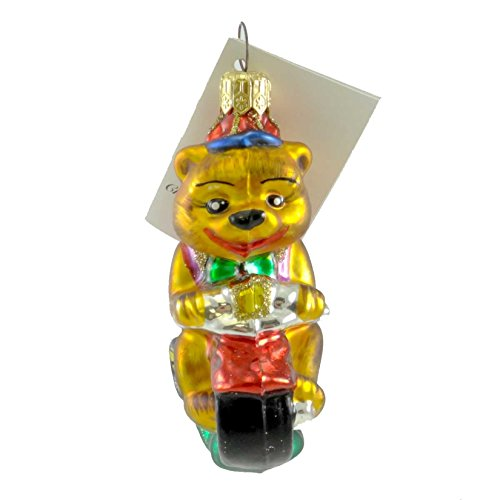 - Christopher Radko FIRST RIDE Blown Glass Tricycle Teddy Bear Ornament
