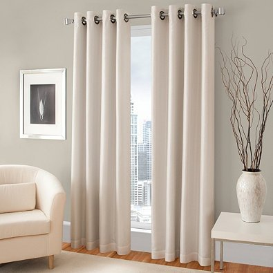 Gorgeous Home *COMES IN DIFFERENT SHADES & SIZES* (#64) 1 PC SOLID DRAPE SILKY TOUCH LINED BLACKOUT WINDOW CURTAIN (IVORY CREAM, 84″ LENGTH)