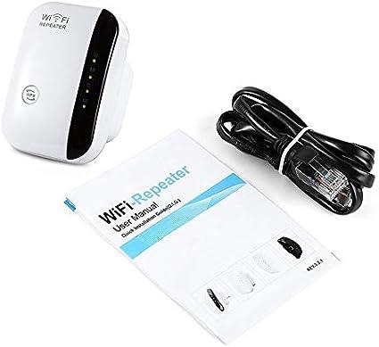 Silverdewi Repetidor WiFi inalámbrico AP 300mbps Alcance del enrutador Extensor de señal 802.11