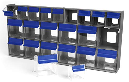 - Quantum Storage QTB669 Tip Out Bin System with 21 Clear Cup Containers, 3-5/8