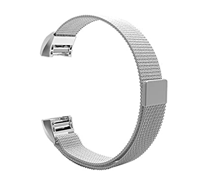 Fitbit Charge 2 Band, BeneStellar Milanese Magnetic Absorbing Function Stainless Steel Bracelet Strap Replacement Band for Fitbit Charge 2