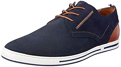 Wild Rhino Men's Butler Lace-Up Flats, Navy Suede, 11 US