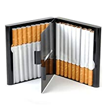 Gooday Alloy 20 Cigarettes Box Storage Case Box Tobacco Cigar Container Holder (Siliver)