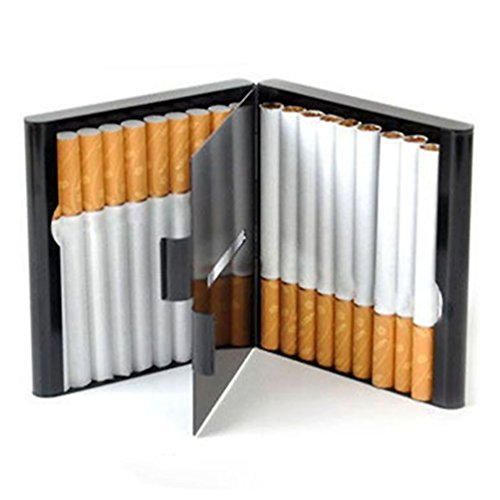 Alloy Cigarettes Box Storage Case for 20 Pcs Tobacco Cigarettes Container Holder Cigar Protective Cover (Silver)