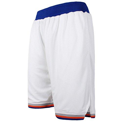 Zetti Mens Jersey Pants Soft Basketball Gym Fitness Shorts - White - 7XL Size