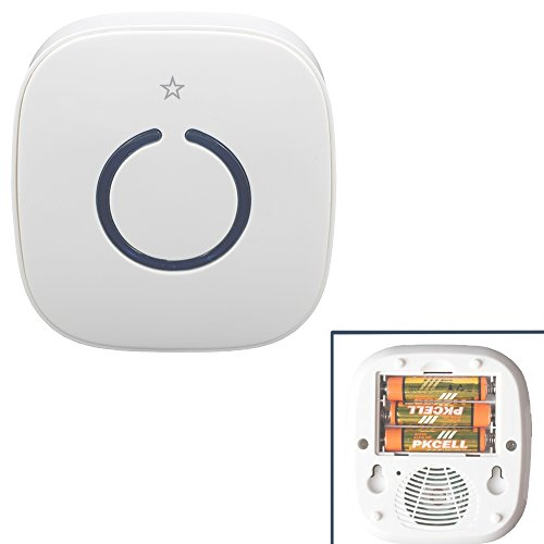 Price comparison product image STARPOINT Extra Add-On Battery Operated Receiver for the STARPOINT Expandable Wireless Multi-Unit Long Range Doorbell Chime Alert System, Model LRB, White