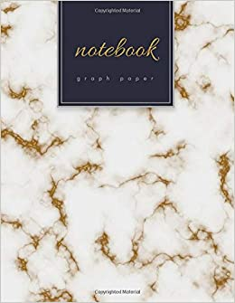 graph paper notebook 1 4 inch squares gold marble soft cover