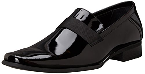 Calvin Klein Men's Bernard Loafer, Black Patent, 11 M US -