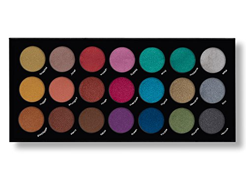 21 Highly Pigmented Professional Eyeshadow Palette Eye Shadow Makeup Kit Set Pro Palette High-end Formula (Frost, Shimmer)