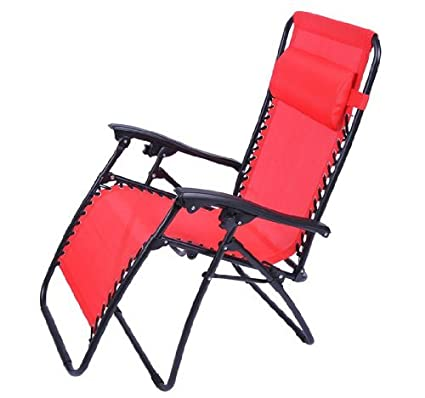 Charmant Outsunny Zero Gravity Recliner Lounge Patio Pool Chair, Fire Red