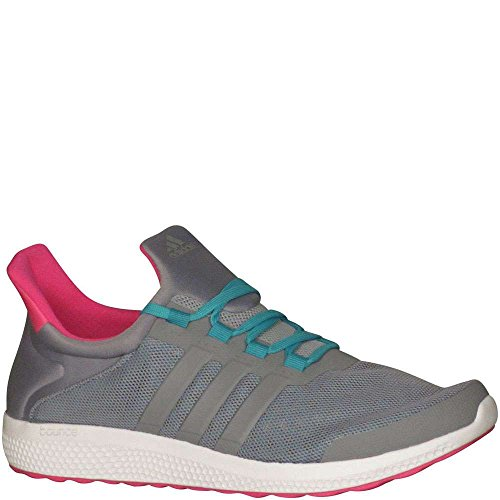 adidas Originals Women's CC Sonic W Running Shoe, Grey/Grey/Shock Green, 8.5 M US