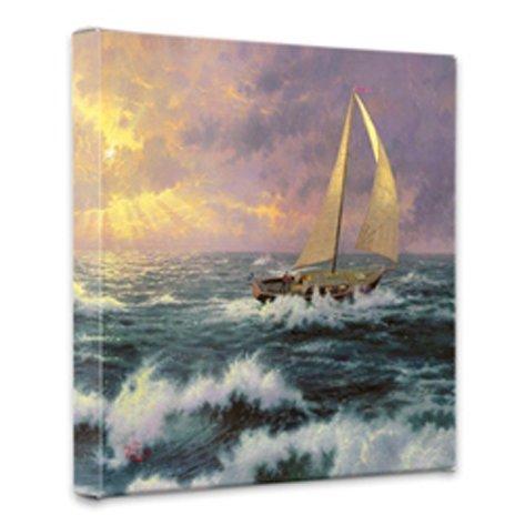 Thomas Kinkade Perseverance 14x14 Gallery Canvas (Thomas Kinkade Themes)