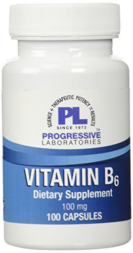 Progressive Labs B-6 Capsules, 100 Count