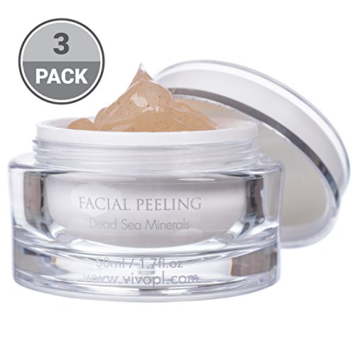 Vivo Per Lei Facial Peeling Gel |Face Peel Containing Dead Sea Minerals And Nut Shell Powder |Face Scrubs For A Flawless Skin |Get Your Mojo Skin With This Face Peeling Gel |(Pack of 3)