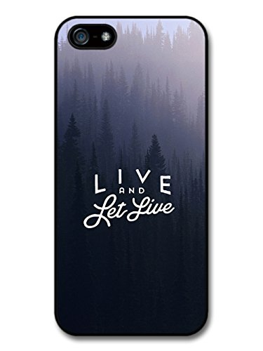 Live and Let Live Handrawn Quote on Forest Photography case for iPhone 5 5S