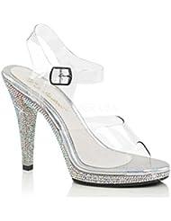 Fabulicious FLAIR-408DM Womens Platform Ankle Strap Sandal