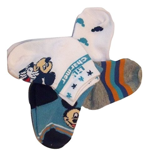 (Disney Mickey or Minnie Mouse 4 Pair Infant Socks (6-12 Months, Lil' Charmer))