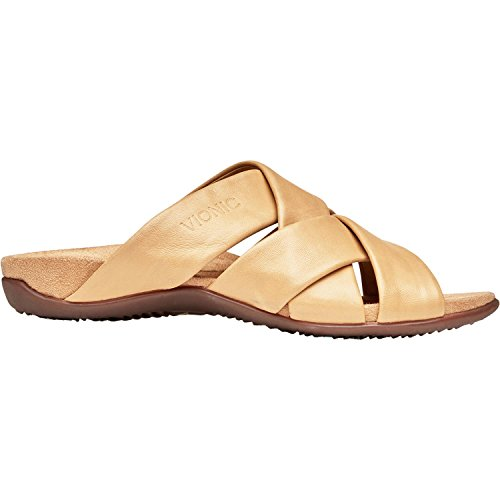 Vionic Womens Juno Slide Sandal, Tan, Size 5