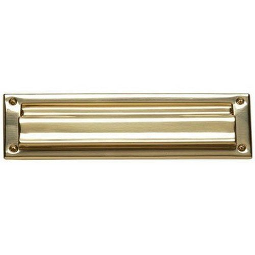 Brass Accents Mail Slot, 3 5/8'' x 13''/A07-M0010-PVD, Lifetime Polished Brass