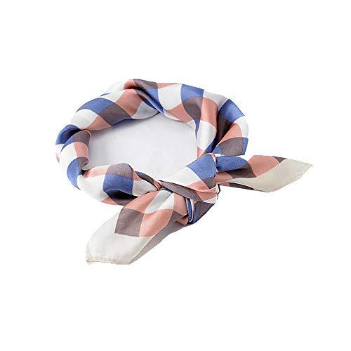 Silk Feel Small Scarf: Lovely Lattice Print Bandana Neckerchief for Women
