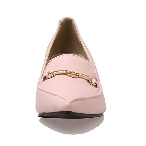 Pumps RAZAMAZA Sin Pink De Mujer Zapatos Cuna Tacon Cordones 1pqOHwqI