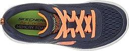 Skechers Boys\' Burst Second Wind Sneaker,Navy/Orange,US 11 M
