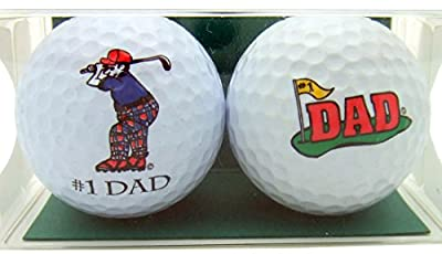 Golf Ball Gift Pack Set of 2 Different Balls for #1 Dad Golfer