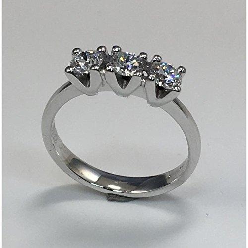 Bague Mirco Visconti Trilogy al537201or blanc diamant