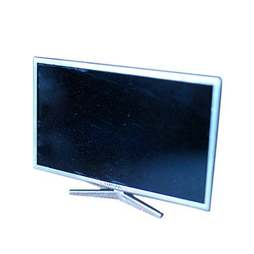BESTLEE 1:24 Dollhouse Miniature Silver Liquid Crystal Television TV Model Small