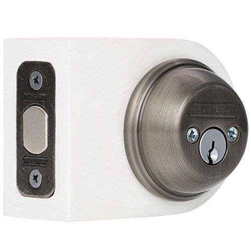 (SCHLAGE LOCK CO B62N620 Double Cylinder Deadbolt, Pewter by Schlage Lock Company)
