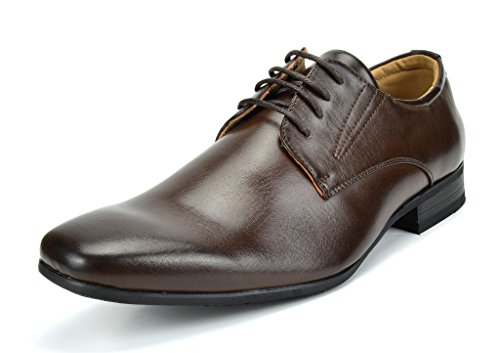 Bruno Marc Men's Gordon-03 Dark Brown Classic Modern Formal Oxfords Lace Up Leather Lined Snipe Toe Dress Shoes - 10.5 M US