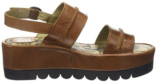 Fly London Womens Baku Wedge Pump Tappeto Cammello