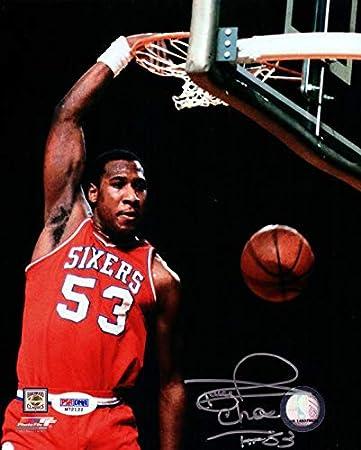 Darryl Dawkins Autographed 8x10 P O Philadelphia 76erschocolate Thunder Stock 76041