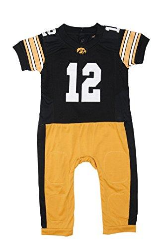 FAST ASLEEP Iowa Hawkeyes Baby NCAA Uniform Romper New