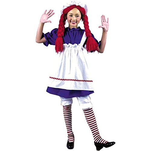 Rag Doll Striped Costumes (Girl's Rag Doll Costume (Size:Small 6-8))