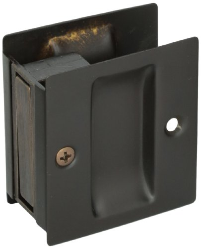 Don-Jo PDL-100 Passage Pocket Door Lock, Oil Rubbed Bronze Finish, 2-1/2'' Width x 2-3/4'' Height (Pack of 10) by Don-Jo