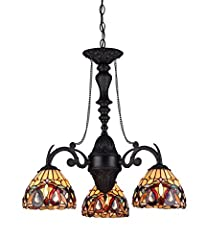 SERENITY, a Victorian down hanging mini chandelier will make a design statement by itself. Expand the effect by adding one or more of the other lamps in this design style. Expertly handcrafted with top quality materials including real stained...