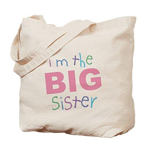 Big Sister Natural - CafePress - I'm The Big Sister - Natural Canvas Tote Bag, Cloth Shopping Bag