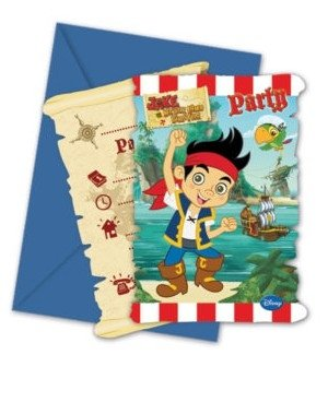 Disney Junior Yo Ho Disney Jake And The Never Land Pirates Party Invitations, Pack Of 6 ()