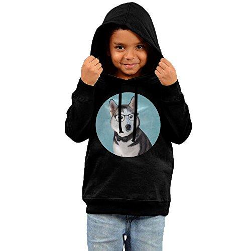 Universal Mascot T-shirt - ZheuO Boys & Girls Baby Husky Wolf Casual Style Hoodie Sweatshirt 2 Toddler Black