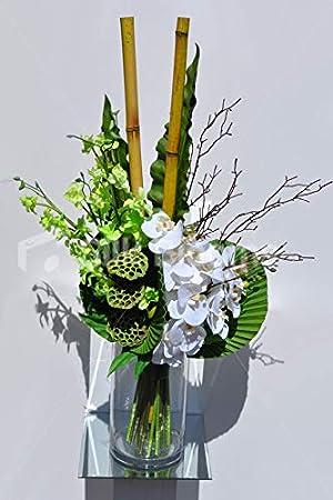 Silk Blooms Ltd Orquídea Artificial Verde Singapur y phalenopsis ...
