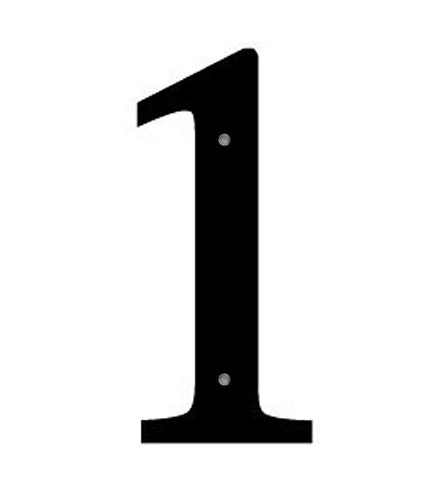 Iron House Address Number 1 Medium 12'' - Black Metal