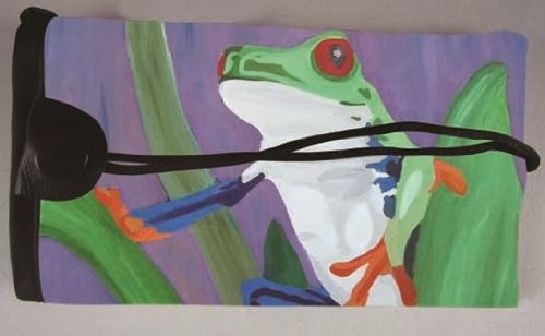 Frog Key Case - Key Chain - From My Original Painting, Kaleidoscope - Support Wildlife Conservation - Read (Dollar Costa Rica)