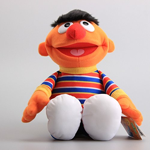 Sesame Street Ernie 13 Inch Toddler Stuffed Plush Kids - Hand Puppet Plush Ernie