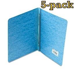 ACCO Pressboard Report Cover, Letter, 5 pack (Light Blue)