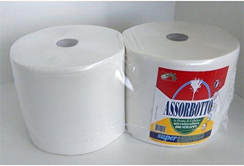 Fimel – Bobina Absorbente de algodón de celulosa 800 Strappi (Pack de 2 Rollos: Amazon.es: Hogar