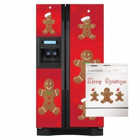 Appliance Art Winter Snow Holiday Christmas Santa Dishwasher